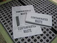 Conatminated Waste Bags & Ties pack/10