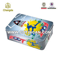 tin box packaging gift for football promotion