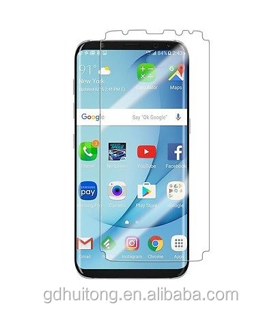 Premium clear mobile phone screen shield for samsung s8 plus 9H hardness s8 plus glass protector