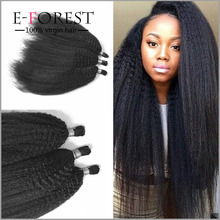 Fashion Hair Products Brazilian Virgin Kinky Straight Human Hair Bulk For Braiding 3Pcs Lot Coarse Yaki Bulk Hair Extensions