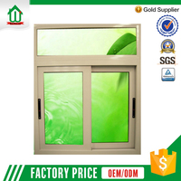 Clear glass interior aluminum sliding window