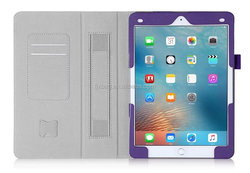 Factory Customized Best Selling Leather flip stand card holder Handle smart case for ipad pro 9.7 inch with SD Card Slot