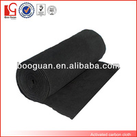 Black roll activated carbon odor absorbing material