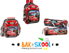 Cars School Backpack Lunch Bag Aand Pencil Case