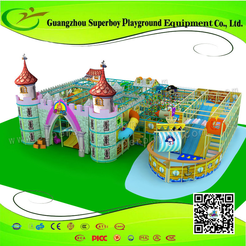 Funny Castle Fairy Tale Design Indoor Gym Equipment For Kids 1411-28a