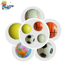 High quality PU foam mini soft tennis ball toy for baby, light kids ball toy
