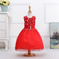 fancy red flower girl dresses india wholesale