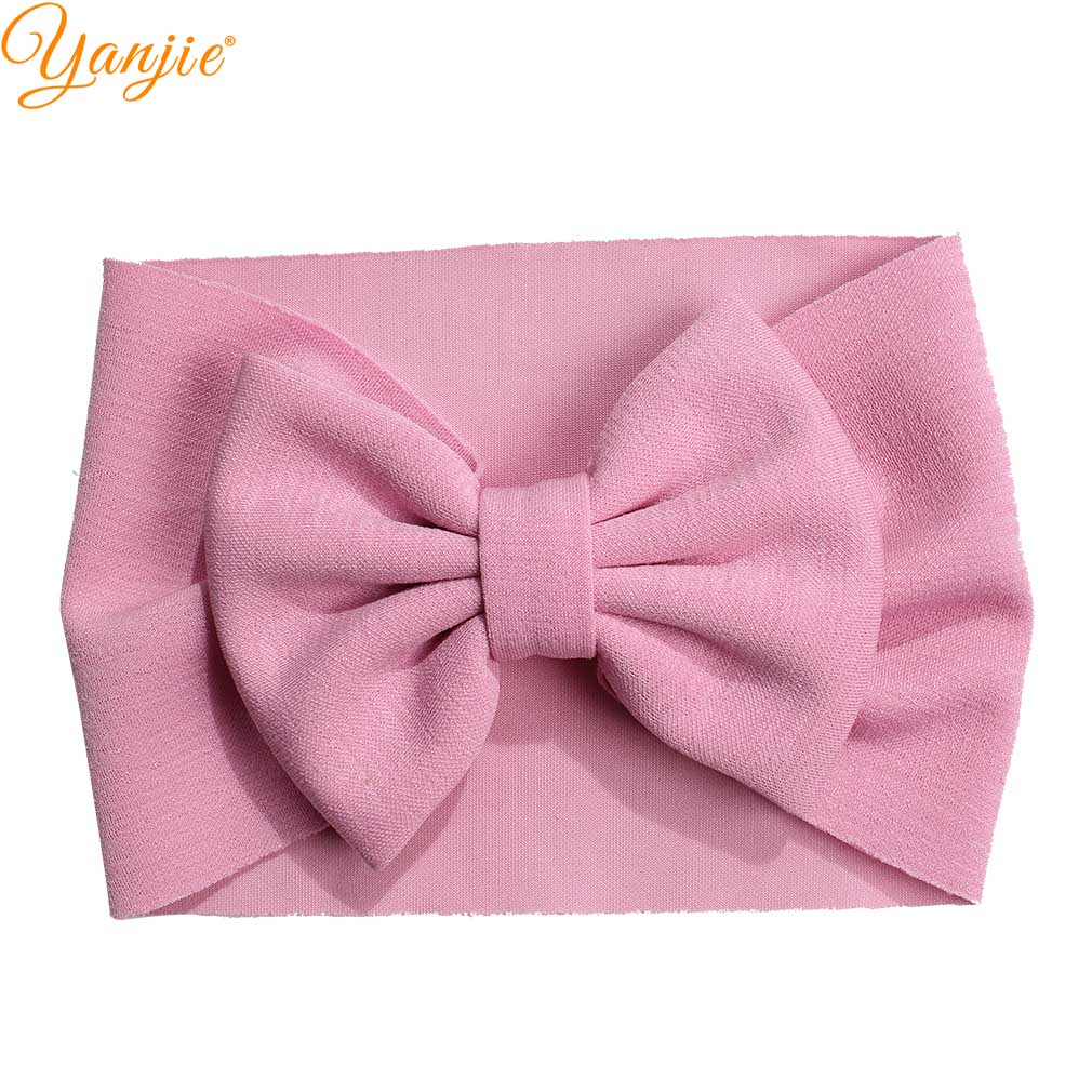 DIY Solid Hair Accessories Boutique For Baby Girl 2019 New Arrival Hair Big Bow Headband Various Colors Infant Toddler Head Wrap