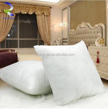 Comfortable sofa decorative cushion white duck goose feather down filled cushion