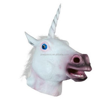Halloween party costume vinyl animal horse head mask