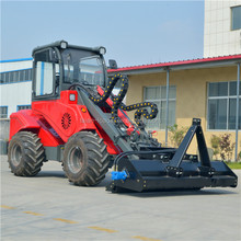 Multifunction agricultural machine mini farm tractor with front loader end backhoe for sale