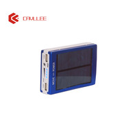 Fast charging monocrystalline silicon panel 10400mah dual USB portable mobile solar chargers for cell phone