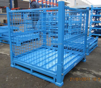 warehouse stackable steel storage pallet bin