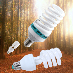 10000h Tri-phosphor Stock price Half Spiral crystal Glass Energy Saving Light saver lamp bulbs
