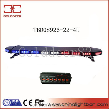 88W Emergency Led Linear Lightbar with Black Cover