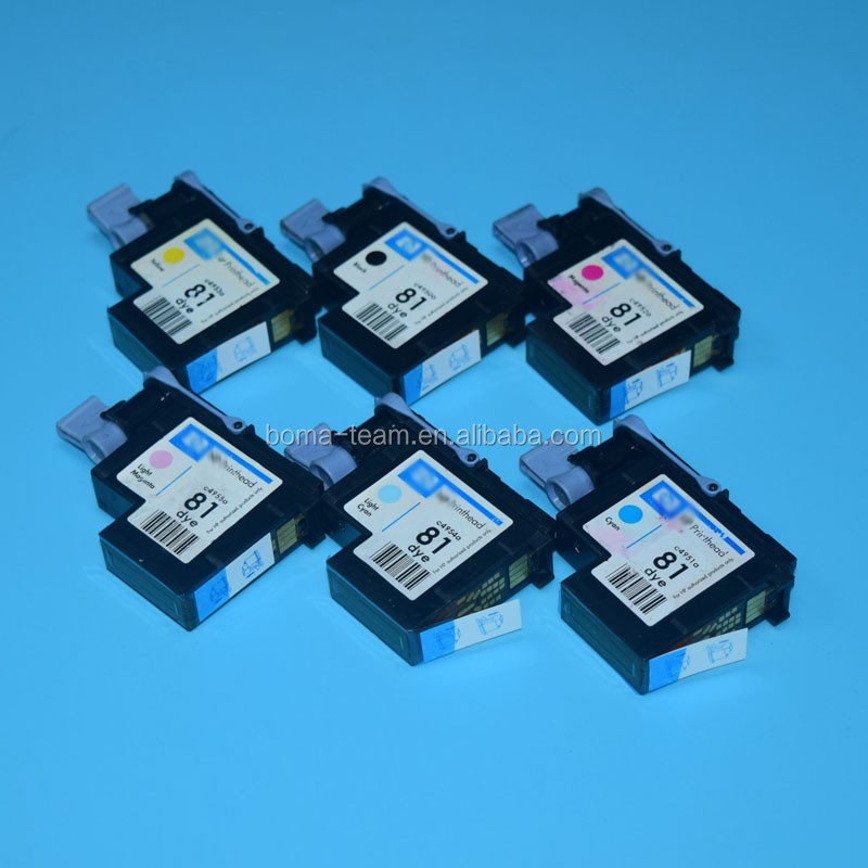 6 colors printhead for hp 81 for hp designjet 5000 5000pc 5500 5500ps print head