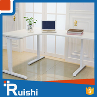 2016 Latest Deisgn Metal Material Professional White Reception Desk
