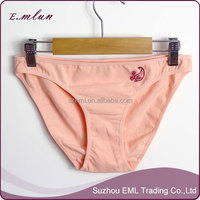 Pink cotton young girls wear sweet underwears