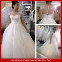 WD062 Beautiful ball gown cinderella bridal dress wedding