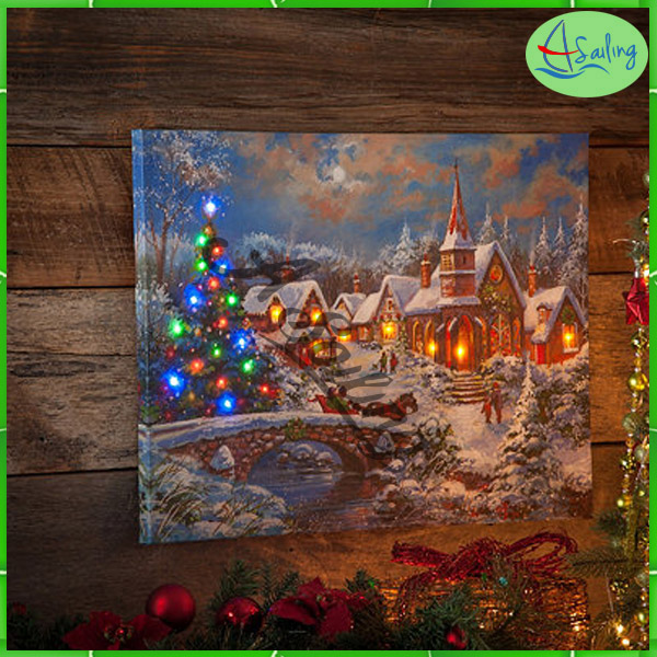 customized Cottom Material canvas picture prints on wooden frame
