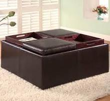 coffee table with storage ottoman with tray