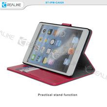wallet detachable magnet leather case for ipad mini,leather watch travel case for ipad mini