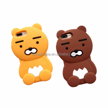 Korean lovely lion 3D customize eco-friendly Silicone smartphone case covers for Iphone 6