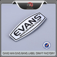 OEM Accepted Custom ABS Moulded Inection Chrome Plated And Black Enamel Plastic Logo Sticker