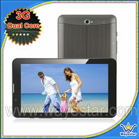 7'' inch Dual Core tablet pc 3g video calling phone tablet