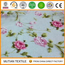 polyester printed organza clothes fabric