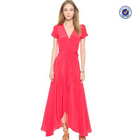 2015 china clothing factory OEM red wrap homecoming dresses under $50