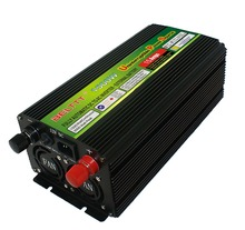 lcd display solar power inverter 1500W power inverter adapter with charger UPS ac output power bank for home