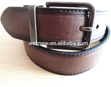High quality dark brown men pu leather belts,belts for jeans