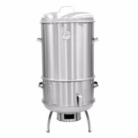 Camping Stainless Steel Charcoal Smoker Portable