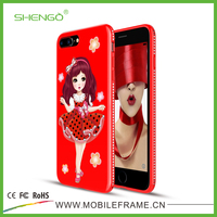 Cute Design Beautiful Girl UV Printing Soft TPU Customize Phone Cases Cheap for iPhone 7