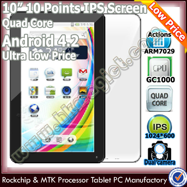 Hot sale android 4.2 tablet pc quad core pad