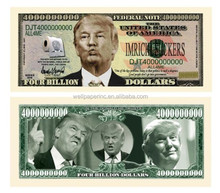 Donald Trump Dump Trump Four Billion Dollar Bill - Highly Collectible Novelty Dollar - Funny for Democrats or Republicans
