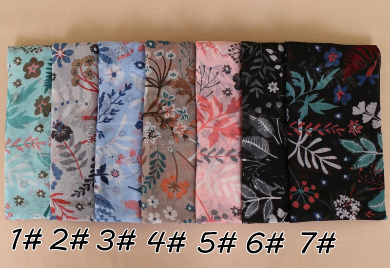 wholesale Muslim viscose printing voile scarf Arab india woman printed personalized girls hijab