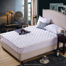 Wholesale soft hospital hotel quilted thin washable mattress topper bed pad