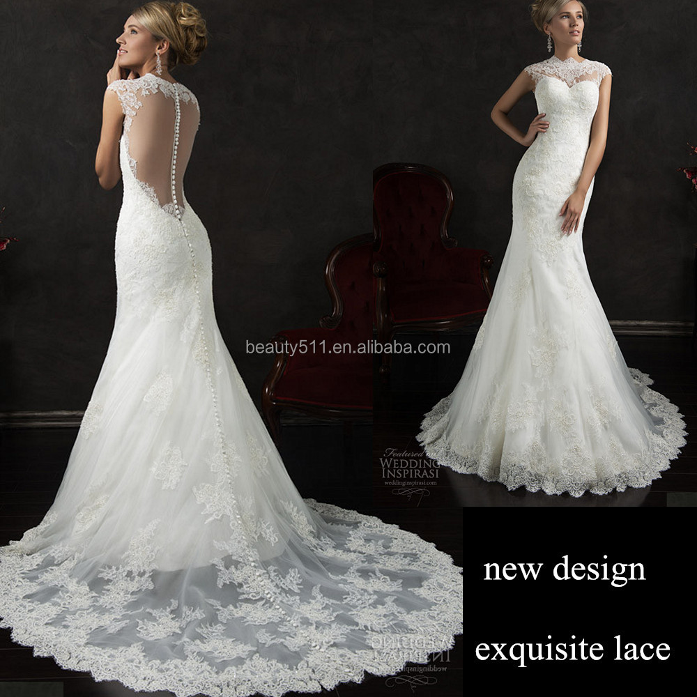 Real Photos Hot Sale Sexy Mermaid Strapless Spaghetti Straps Backless Floor-length Modest Lace Wedding Dresses Z651