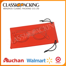 Custom high quality microfiber pu reading glasses pouch/sunglasses pouch