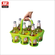 Chinese supplier plastic party beer bottles bucket with handle wine bottles beverage holder with 6 cases