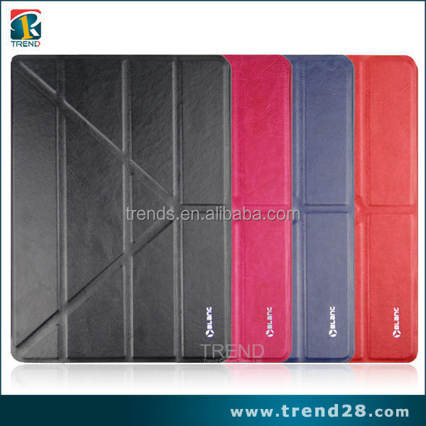 mobile accessories folding leather smart cover for ipad air