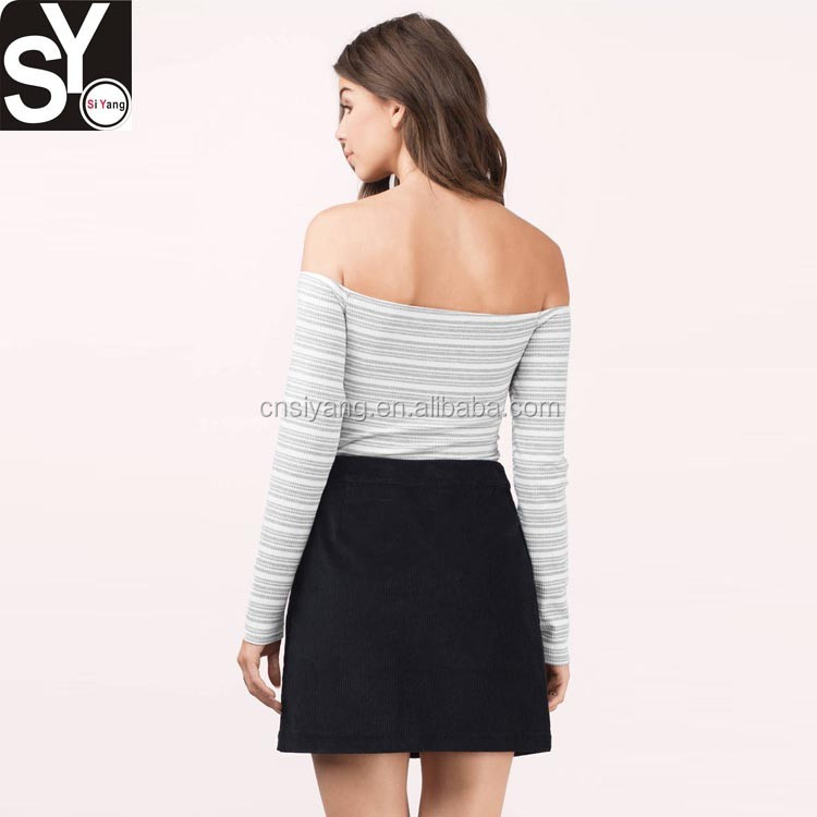 China manufacturer latest design bodysuit,off shoulder roman long sleeve women bodysuit tops