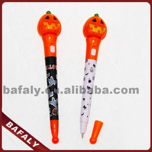 Promotion hot sell new style factory directly halloween bounce ballpoint pen,flashing halloween feather pen,halloween ball pen