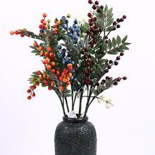 Artificial berry and leaf spray Christmas Season decoration blueberry fruit simulation floral