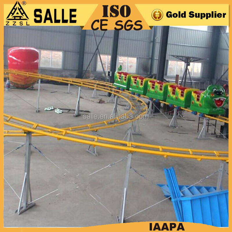 Sale children playground euqipment sliding rides 18 seats small roller coaster