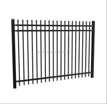 Heavy-duty black powder coated cheap wrought iron fence panels for sale