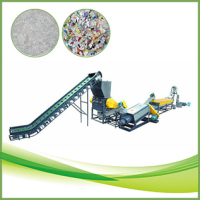 300kgh capacity PE PP films washing and recycling line