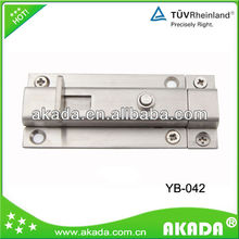 stainless steel bolt with auto fallback, bolt with spring button YB-042
